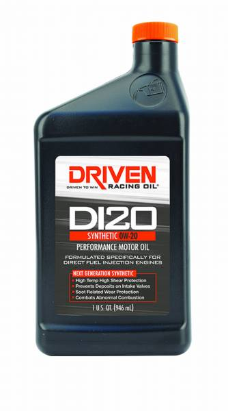 Driven Racing Oil LLC - Driven Racing Oil LLC DI20 0W-20 Synthetic Direct Injection Engine Oil - 1 Quart Bottle