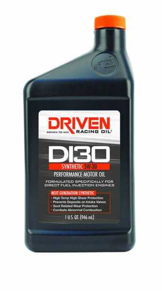 Driven Racing Oil LLC - Driven Racing Oil LLC DI30 5W-30 Synthetic Direct Injection Engine Oil - 1 Quart Bottle