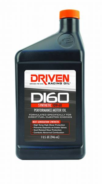 Driven Racing Oil LLC - Driven Racing Oil LLC DI60 10W-60 Synthetic Direct Injection Engine Oil - 1 Quart Bottle