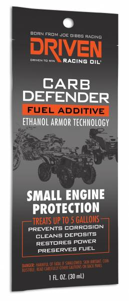 Driven Racing Oil LLC - Driven Racing Oil LLC Carb Defender - Small Engine - 1 oz packet
