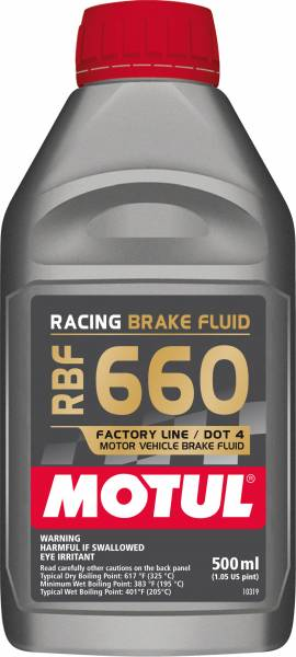 Motul - Motul RBF 660 FACTORY LINE - 0.500L AM - Fully Synthetic Racing Brake Fluid