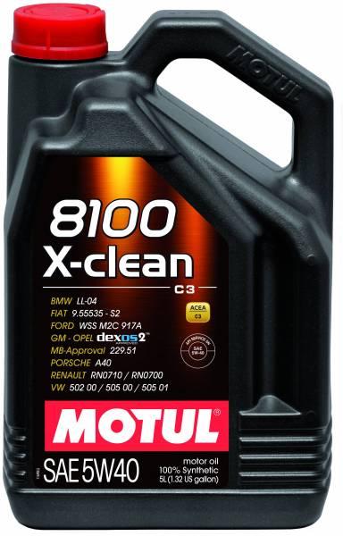 Motul - Motul 8100 X-CLEAN 5W40 - 5L - Synthetic Engine Oil