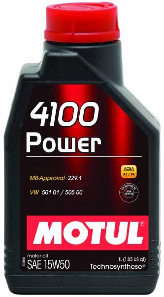 Motul - Motul 4100 POWER 15W50 - 1L - Technosynthese Oil