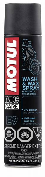 Motul - Motul E9 WASH & WAX SPRAY - 0.400L US CAN