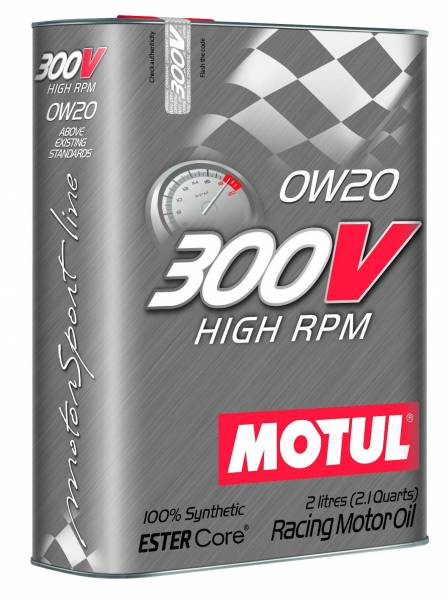 Motul - Motul 300V HIGH RPM 0W20 - 2L - Racing Engine Oil