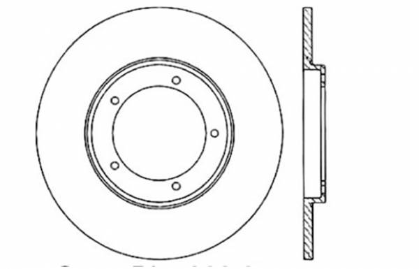 StopTech - StopTech Sport Cross Drilled Brake Rotor; Front Left