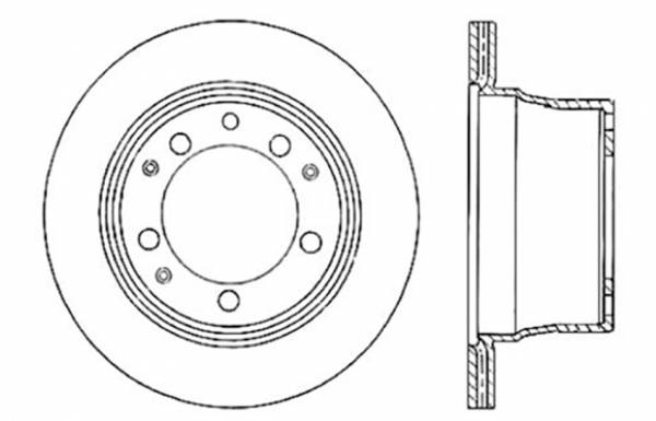 StopTech - StopTech Sport Cross Drilled Brake Rotor; Rear Left