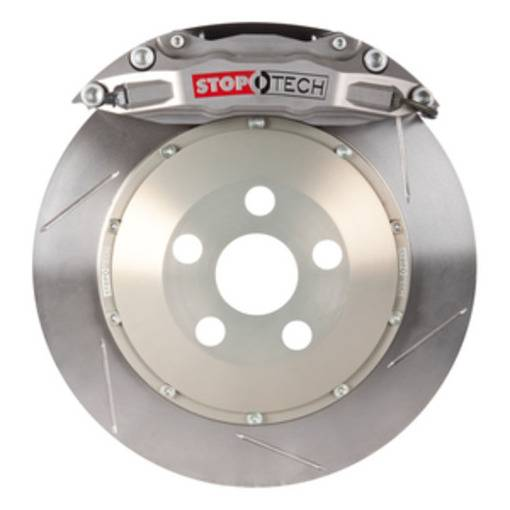 StopTech - StopTech Trophy Sport Big Brake Kit; Silver Caliper, Slotted 2 Pc. Rotor, Rear