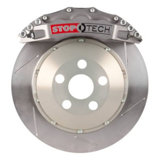StopTech - StopTech Trophy Sport Big Brake Kit; Silver Caliper, Slotted 2 Pc. Rotor, Front