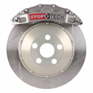 StopTech - StopTech Trophy Sport Big Brake Kit; Silver Caliper, Slotted 2 Pc. Rotor, Front - Image 2