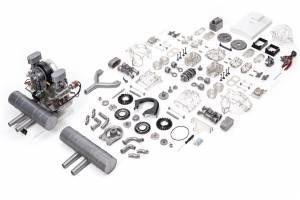Porsche Carrera Racing Engine - 1:3 Scale Model Kit - Image 5